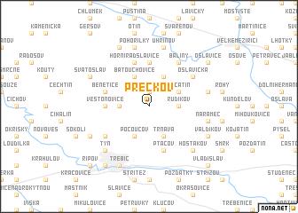 map of Přeckov