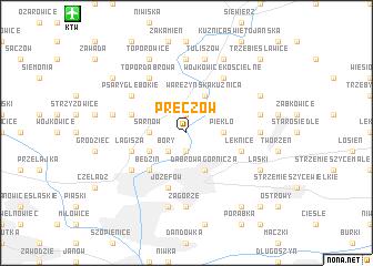 map of Preczów