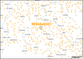 map of Predojevići