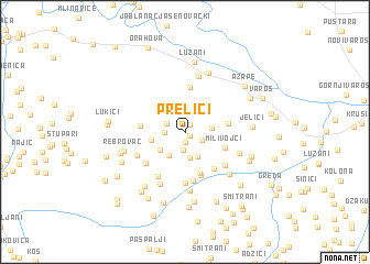 map of Prelići