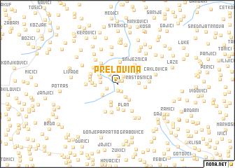 map of Prelovina