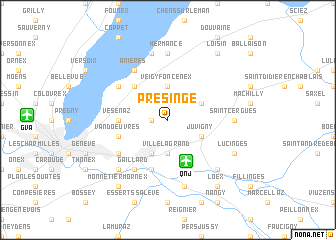 map of Presinge