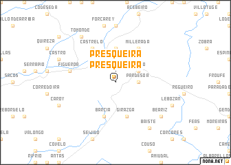map of Presqueira
