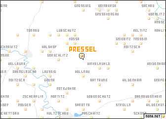 map of Pressel