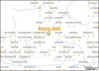 map of Prevelianá