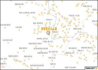 map of Previja