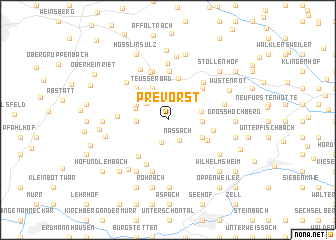 map of Prevorst