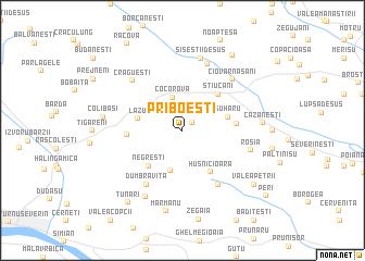map of Priboeşti
