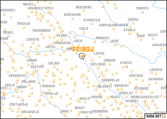 map of Priboj