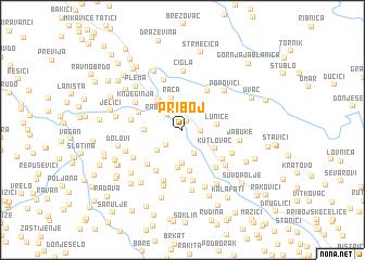 map of Priboj