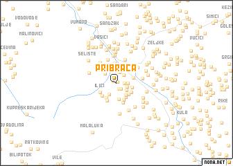 map of Pribraca