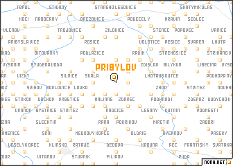 map of Přibylov