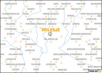 map of Prilesje