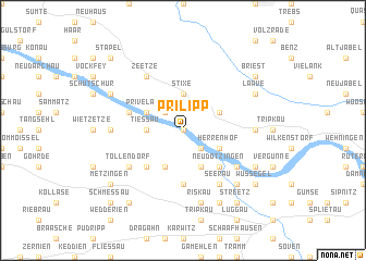 map of Prilipp