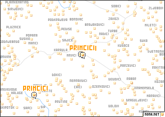 map of Primčići