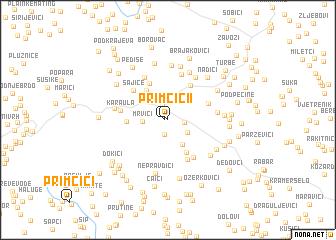 map of Primčići