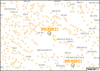 map of Primorci