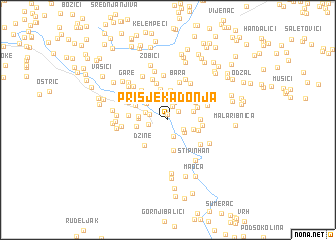 map of Prisjeka Donja