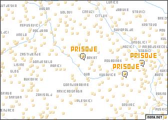 map of Prisoje