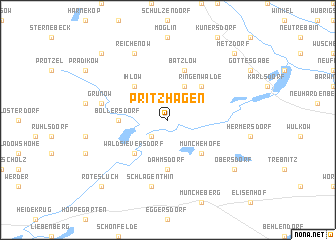 map of Pritzhagen