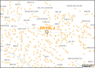 map of Privalj