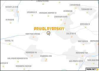 map of Privol'nyanskiy