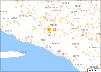 map of Prnići