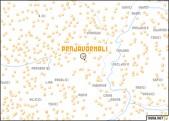 map of Prnjavor Mali