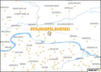 map of Prnjavor Slavonski