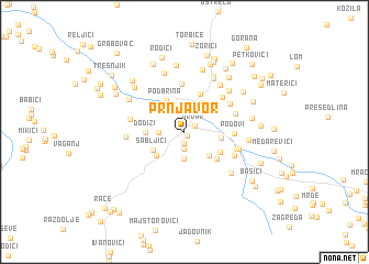 map of Prnjavor