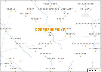 map of Probuzhdeniye