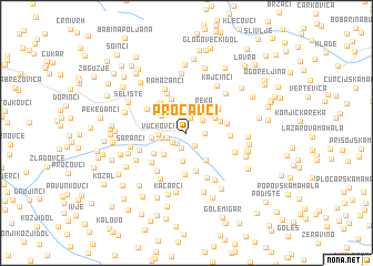map of Proćavci