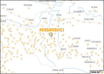 map of Prodanovići