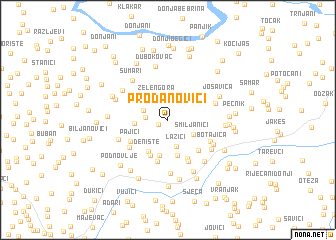 map of Prodanovići