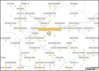 map of Pródhromos