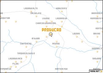 map of Produção