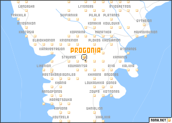 map of Progónia