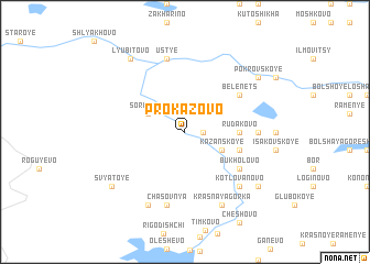 map of Prokazovo