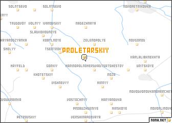 map of Proletarskiy