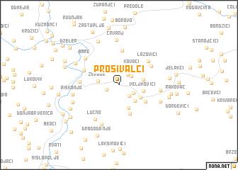 map of Prošivalci