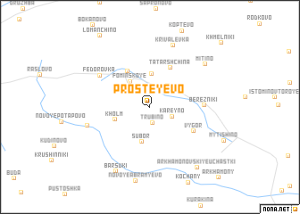 map of Prosteyevo