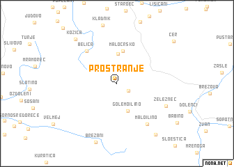 map of Prostranje