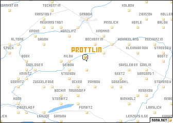 map of Pröttlin