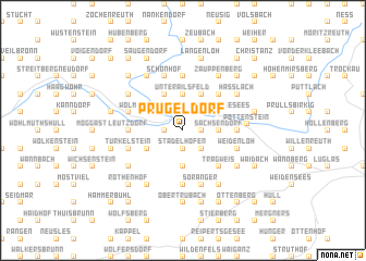 map of Prügeldorf