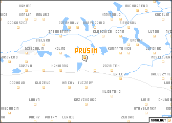 map of Prusim
