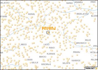 map of Prvanj