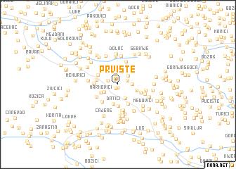 map of Prvište