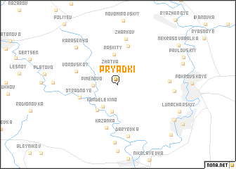 map of Pryadki