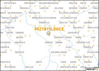 map of Przybysławice