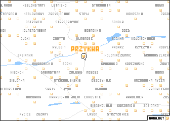 map of Przykwa